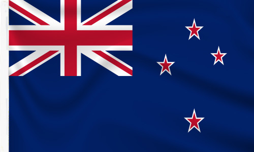 New Zealand Flag with sleeve to buy online