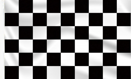 Black & White Chequered Flag with sleeve to buy online