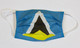 St Lucia Flag Cotton Face Mask