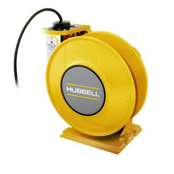 WCA16445-BC   NEMA 4 Yellow Industrial Reel, UL Type 4, 45 Ft, #16/4 SOW, 10 A, 250 VAC   Gleason Reel / Hubbell