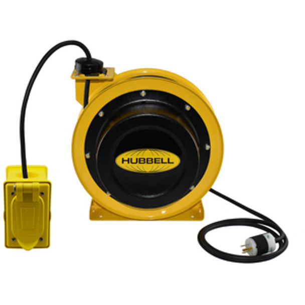 GCC12350-DR 50' 12/3 Industrial Duty Cord Reel w/Dual Receptacle | Gleason Reel - Hubbell