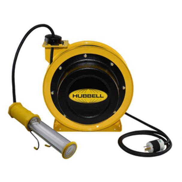 GCC16370-FL 70' 16/3 Industrial Duty Cord Reel w/Fluorescent Lamp   Gleason Reel - Hubbell
