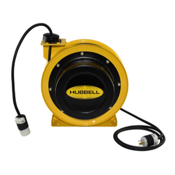 GCC14370-SR 70' 14/3 Industrial Duty Cord Reel w/Single Receptacle | Gleason Reel - Hubbell