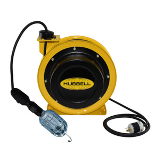 GCC16370-HL 70' 16/3 Industrial Duty Cord Reel w/Incandescent Lamp | Gleason Reel - Hubbell