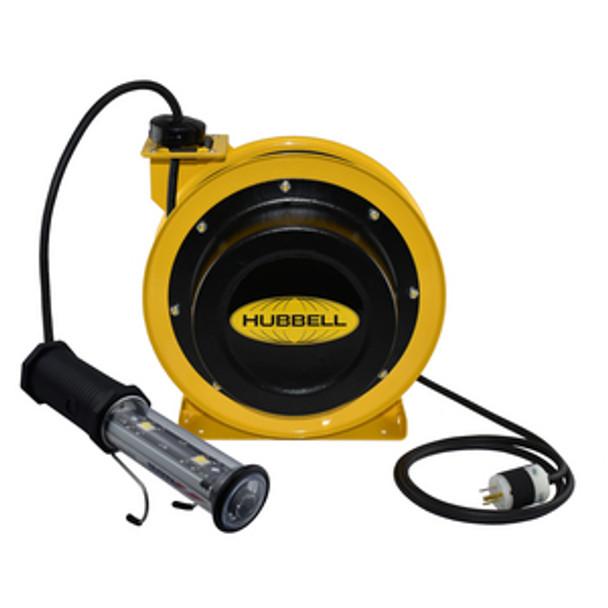 GCC16370-LED | 70' 16/3 Industrial Duty Cord Reel w/LED Hand Lamp | Gleason Reel - Hubbell