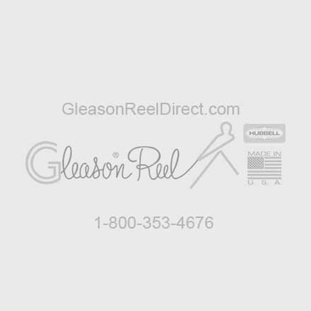 WA50-T048 Aluminum Track 4' Beige, For Loads up to 50 Lbs. | Gleason Reel by Hubbell
