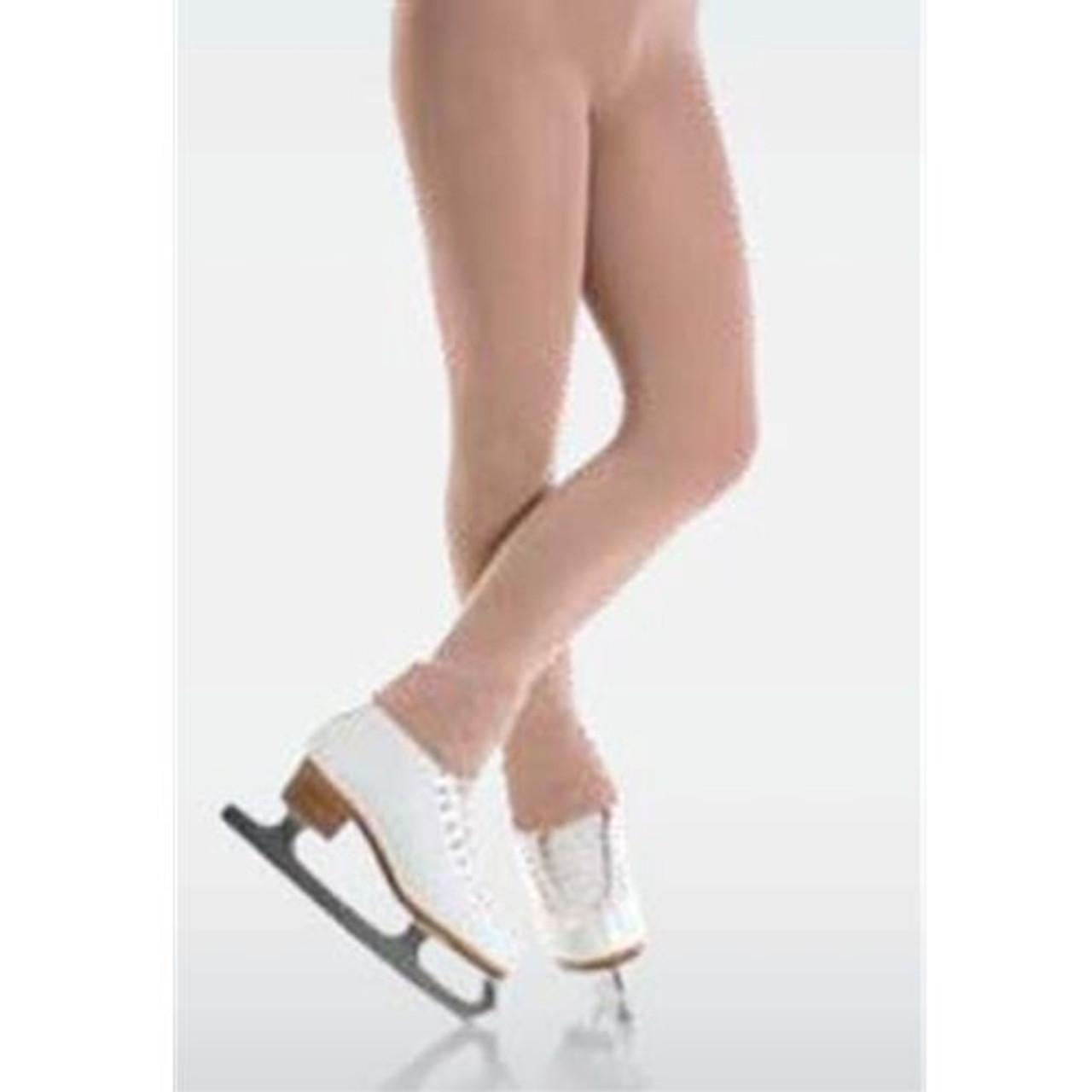 Mondor 3338 Black Boot Cover Evolution Figure Skating Tights 12-14
