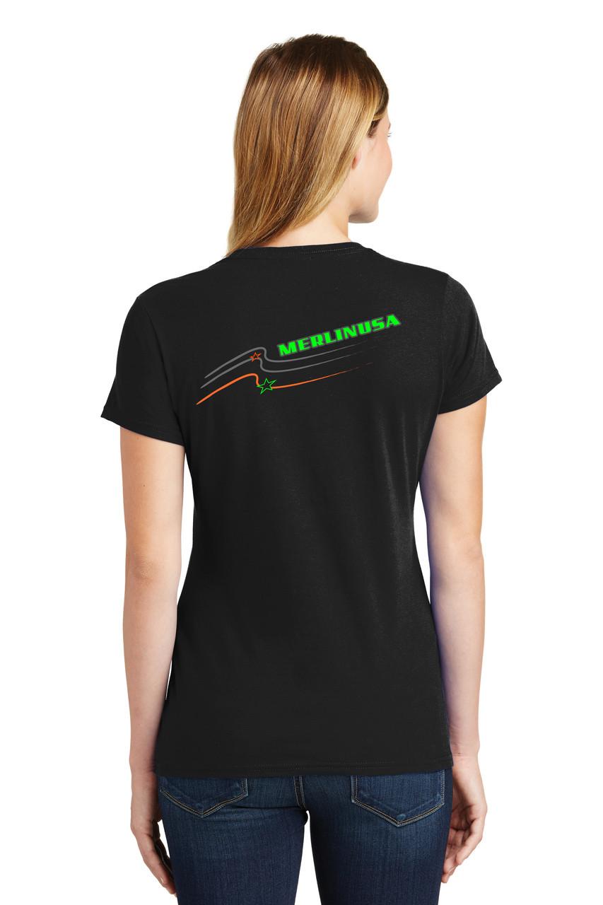 Women's Merlin T-shirt Black Back