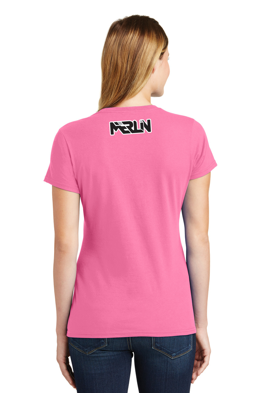 Women's Merlin T-shirt Pink Back