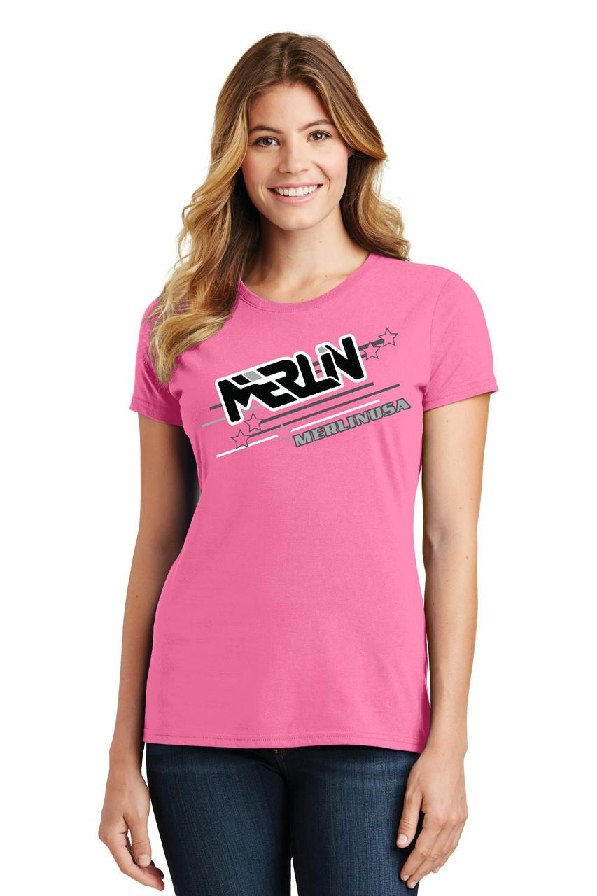 Women's Merlin T-shirt Pink Front