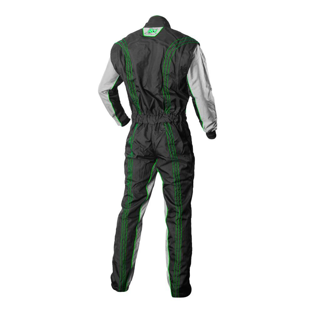 K1R GK2 Green Race Suit Back