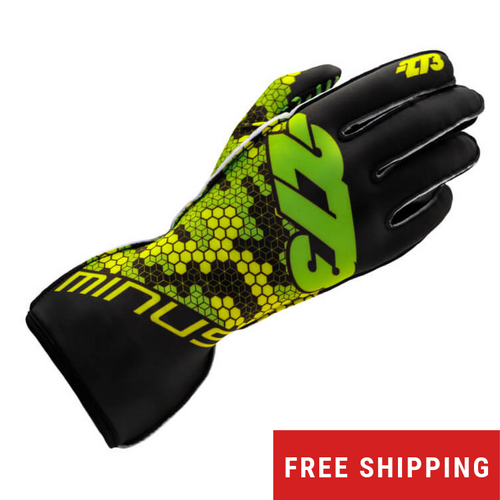 -273 Buzz Karting Glove (Black/Fluo Green/Yellow)