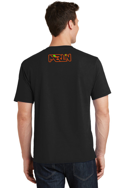 Men's Merlin T-shirt Black Back