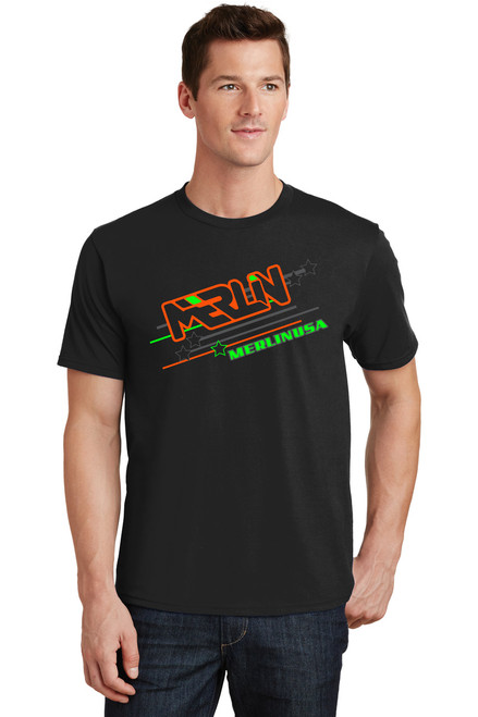 Men's Merlin T-shirt Black Front