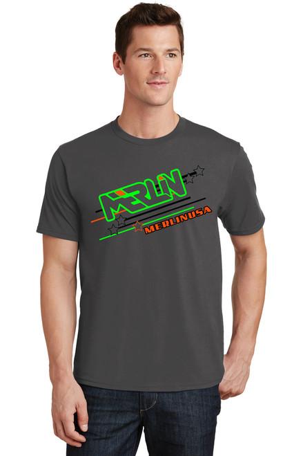 Men's Merlin T-shirt Grey Front