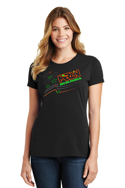Women's Merlin T-shirt Black Front