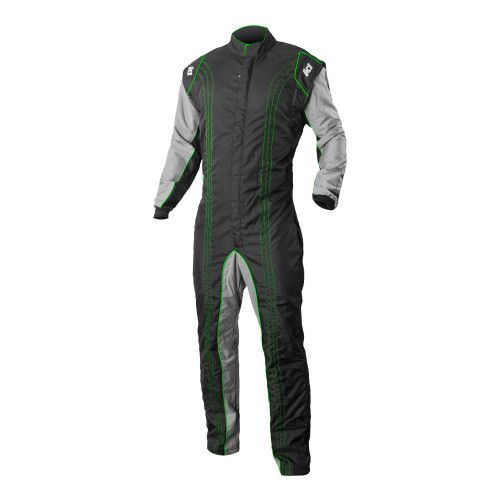 K1R GK2 Green Race Suit Front