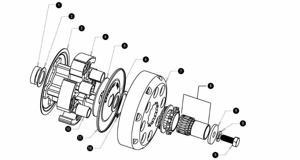 Hilliard Fire Clutch Exploded View