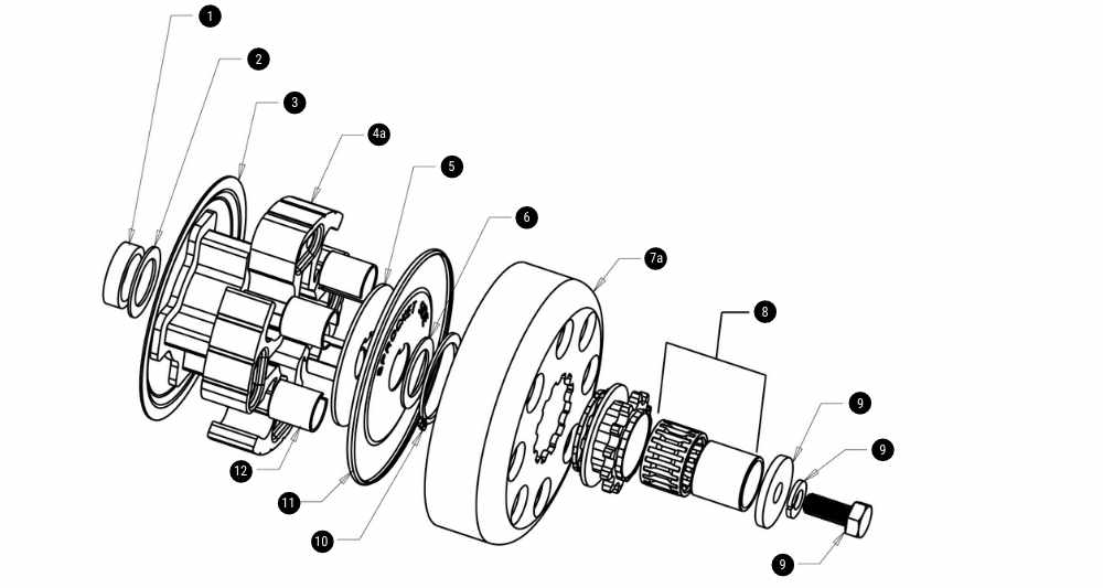 Hilliard Flame Clutch Exploded View