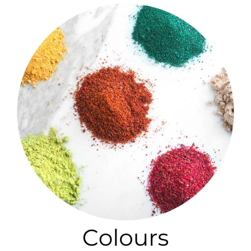 colours, mica powders, colourants