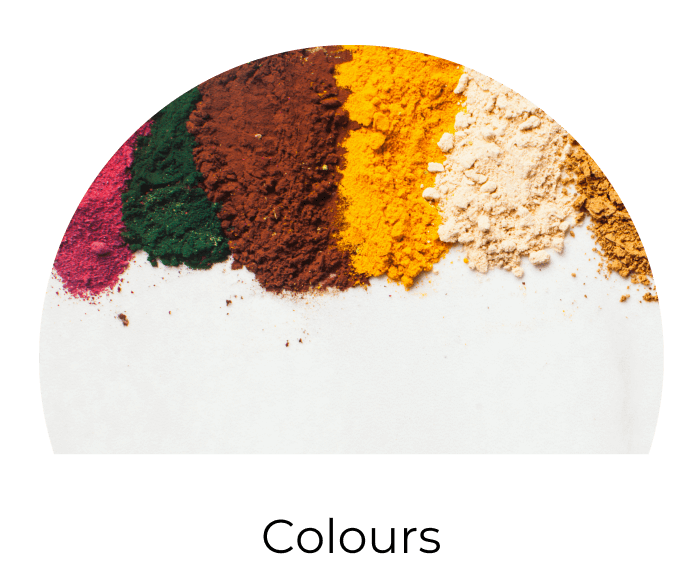 colours, mica powders, colourants