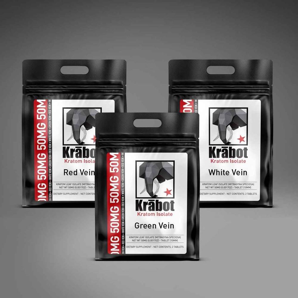 Krabot Kratom Isolate Sample Pack 50mg