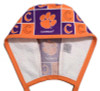 Men's Clemson Tigers Squares Unlined Surgical Scrub Hat, Optional Sweatband, Handmade