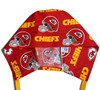 Men's Kansas City Chiefs Red Surgical Scrub Hat, Semi-Lined Fold-Up Cuffed (shown) or No Cuff, Handmade
