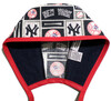 Men's New York Yankees Squares Unlined Surgical Scrub Hat,  Optional Sweatband Handmade
