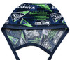 Men's Optional Sweatband Unlined Surgical Scrub Hat Handmade with  Seattle Seahawks Retro fabric