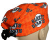 Men's Semi-Lined Fold-Up Cuffed (shown) or No Cuff Surgical Scrub Hat Handmade with  San Francisco Giants Mini Print fabric