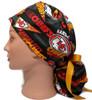 Women's Adjustable Bouffant, Pixie, or Ponytail Surgical Scrub Hat Handmade with  Kansas City Retro fabric