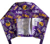 Men's Semi-Lined Fold-Up Cuffed (shown) or No Cuff Surgical Scrub Hat Handmade with  Louisiana LSU Tigers Two Tone fabric