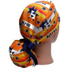 Women's Adjustable Ponytail Surgical Scrub Hat Handmade with  Astros Stars fabric