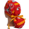 Women's Kansas City Chiefs Red Ponytail Surgical Scrub Hat, Plain or Fold-Up Brim Adjustable, Handmade