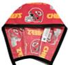 Men's Kansas City Chiefs Red Unlined Surgical Scrub Hat, Optional Sweatband (shown), Handmade