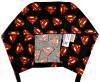 Men's Superman Emblems Surgical Scrub Hat, Semi-Lined Fold-Up Cuffed, or No Cuff (shown), Handmade