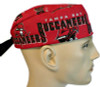 Men's Tampa Bay. Buccaneers Surgical Scrub Hat, Semi-Lined Fold-Up Cuffed (shown) or No Cuff, Handmade