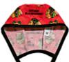 Men's Chicago Blackhawks Red Unlined Surgical Scrub Hat, Optional Sweatband, Handmade