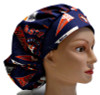 Women's Houston Astros Pennants Bouffant Surgical Scrub Hat, Adjustable with elastic and cord-lock, Handmade