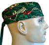 Men's Minnesota Wild Two Tone Surgical Scrub Hat, Semi-Lined Fold-Up Cuffed (shown) or No Cuff, Handmade