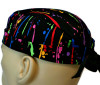 Men's Paint Splatters Surgical Scrub Hat, Semi-Lined Fold-Up Cuffed (shown) or No Cuff, Handmade
