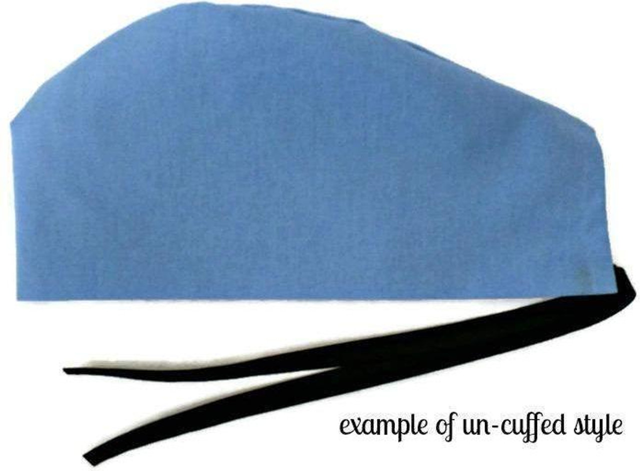 d7f1163529a0a ... Men s Adjustable Fold-Up Cuffed or Un-Cuffed Surgical Scrub Hat Cap  Handmade with