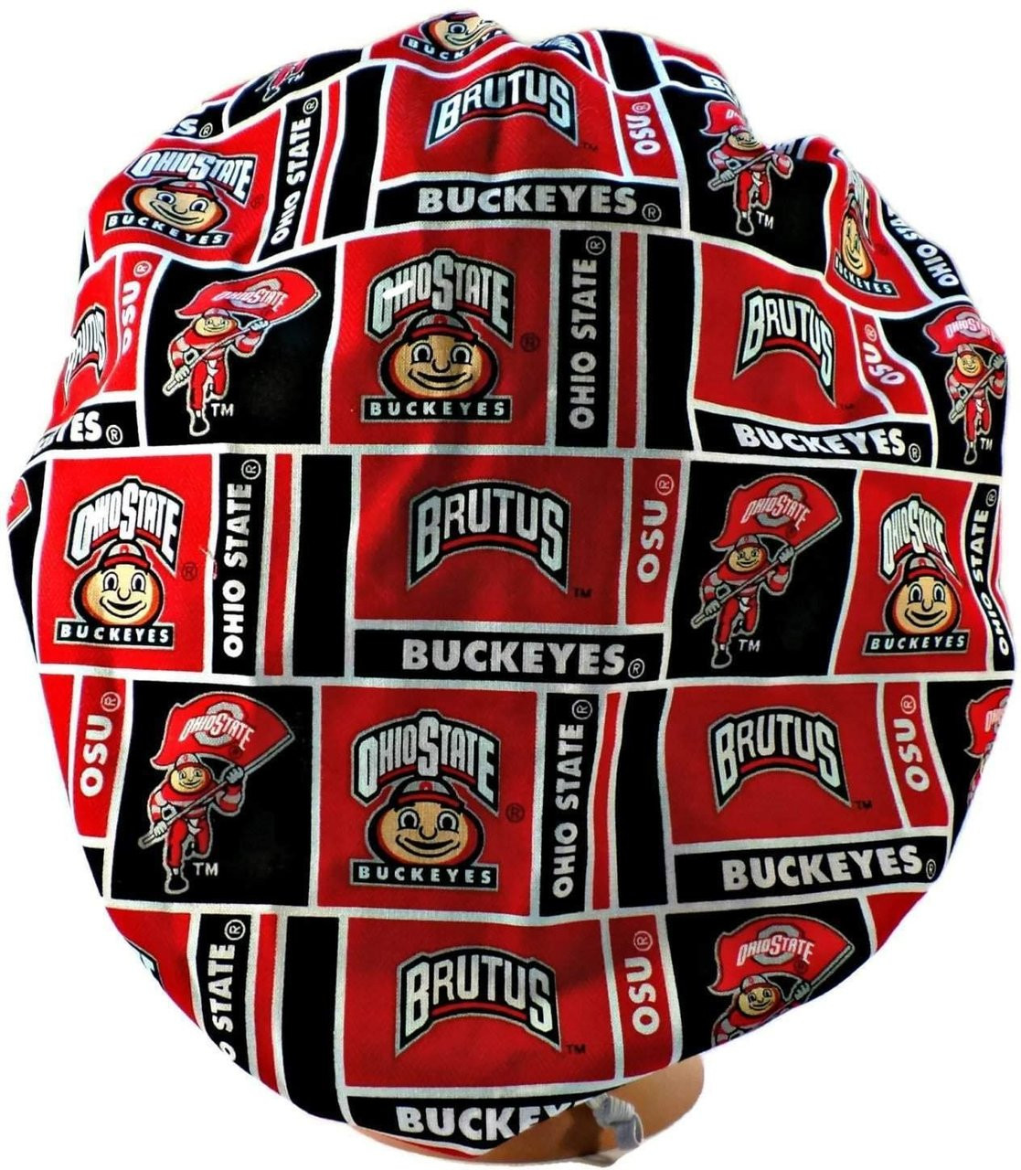 low priced a19d7 3ee9b ... spain womens adjustable bouffant surgical scrub hat cap handmade with  officially licensed ohio state buckeyes fabric