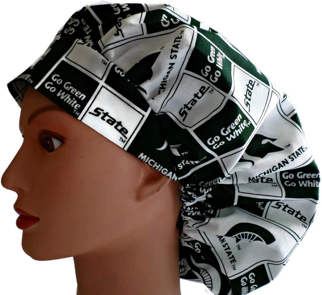 new styles adc1a 5f9bd ... sweden womens adjustable bouffant pixie or ponytail surgical scrub hat  cap handmade with officially licensed 071f8