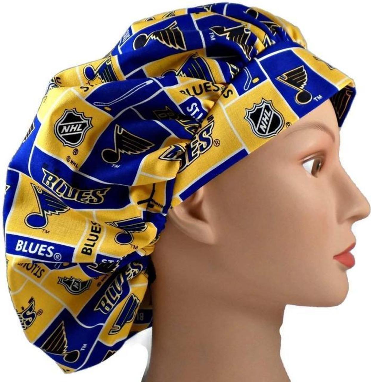 Louis Cardinals Bouffant Women/'s Surgical Scrub Hat//Cap Handmade St