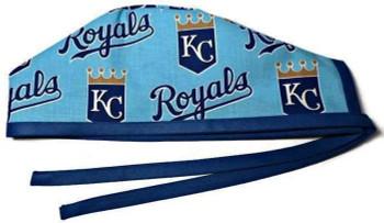 Men's Kansas City Royals  Unlined Surgical Scrub Hat, Optional Sweatband, Handmade