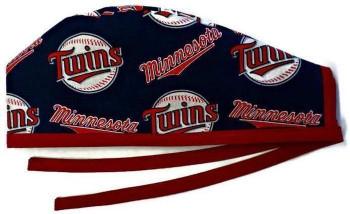 Men's Minnesota Twins  Unlined Surgical Scrub Hat, Optional Sweatband, Handmade