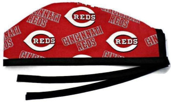 Men's Cincinnati Reds Unlined Surgical Scrub Hat, Optional Sweatband, Handmade
