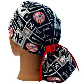 281567d89add7 Men s Unlined Surgical Scrub Hat Cap Handmade with New York Yankees ...